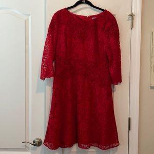 Antonio Melani red lace dress
